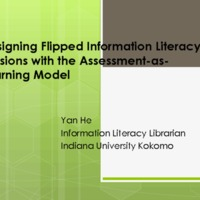 Designing flipped information literacy sessions with the Assessment-as-Learning Model