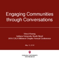Engaging communities through conversations