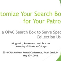 Customize your search box for your patron