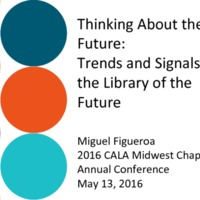 Thinking about the future: trends and signals for the library of the future