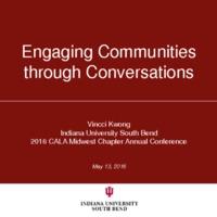 Engaging communities through conversations