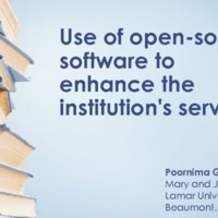 Use of open-source software to enhance the institution's service.pdf