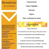 CALA Newsletter, No. 119, Fall 2018